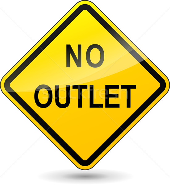 Vector no outlet diamond sign Stock photo © nickylarson974