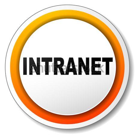 Verpachting icon illustratie oranje ontwerp schaduw Stockfoto © nickylarson974