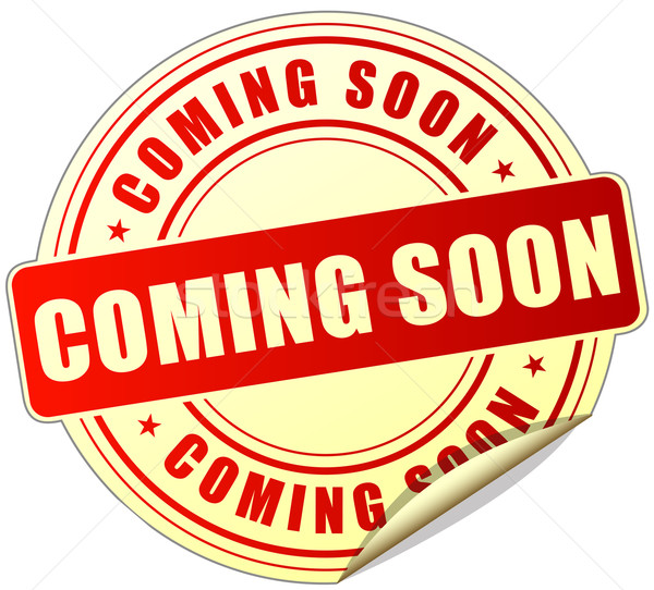 coming soon sticker Stock photo © nickylarson974