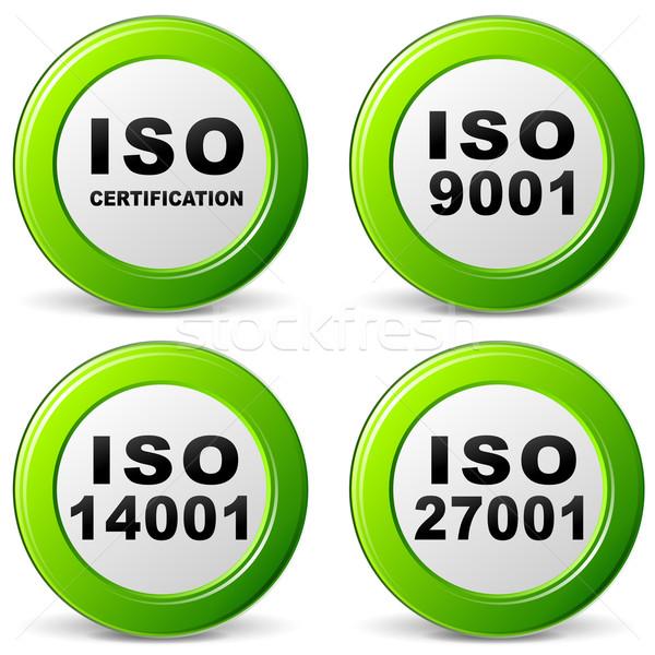 Vector iso certification icon Stock photo © nickylarson974