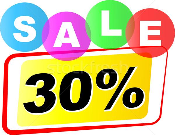Vettore trenta cento vendita icona bianco Foto d'archivio © nickylarson974