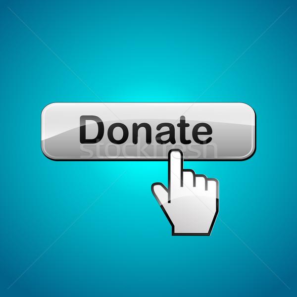 Vektor adományoz illusztráció absztrakt pénz internet Stock fotó © nickylarson974
