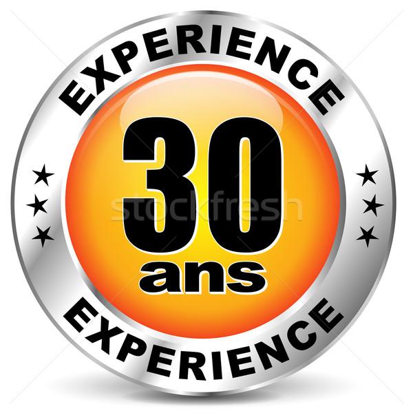 вектора опыт Label икона французский перевод Сток-фото © nickylarson974