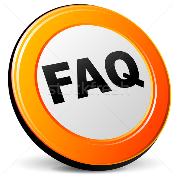 ベクトル よくある質問 アイコン 白 にログイン ウェブ ストックフォト © nickylarson974