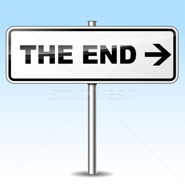 Vector the end sign Stock photo © nickylarson974