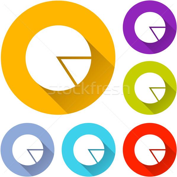 шесть пирог икона иллюстрация иконки тень Сток-фото © nickylarson974