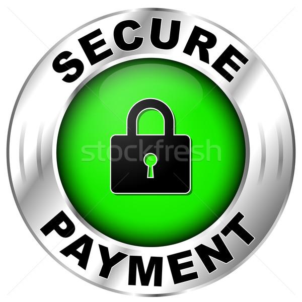 secure payment label Stock photo © nickylarson974