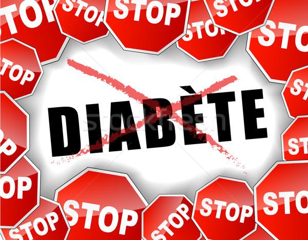 Stop diabete zucchero testo finire illustrazione Foto d'archivio © nickylarson974