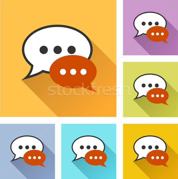 speech bubble set icons Stock photo © nickylarson974