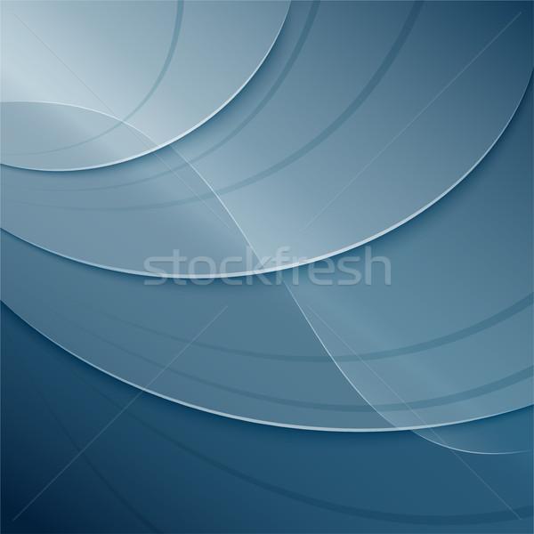 Aquatisch abstract illustratie achtergrond frame ruimte Stockfoto © nickylarson974