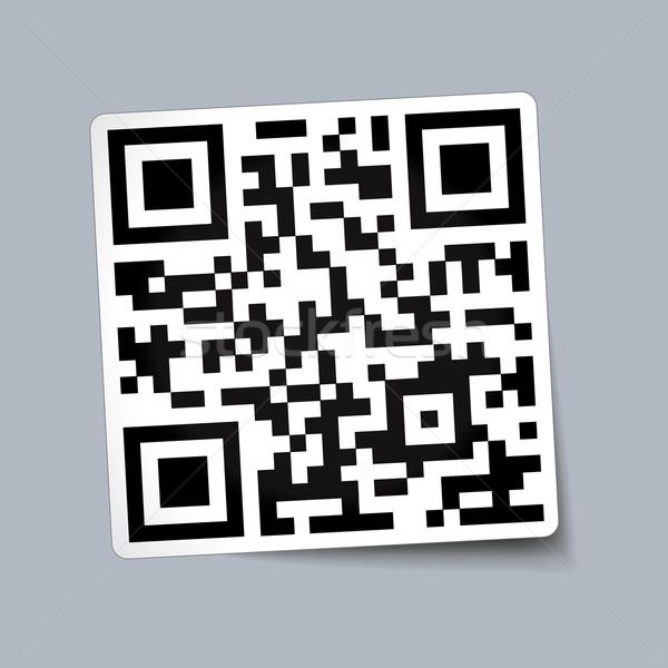 Código qr papel negocios web moderna código Foto stock © nickylarson974
