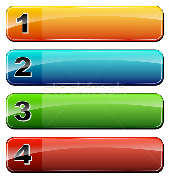 four numbers icons Stock photo © nickylarson974