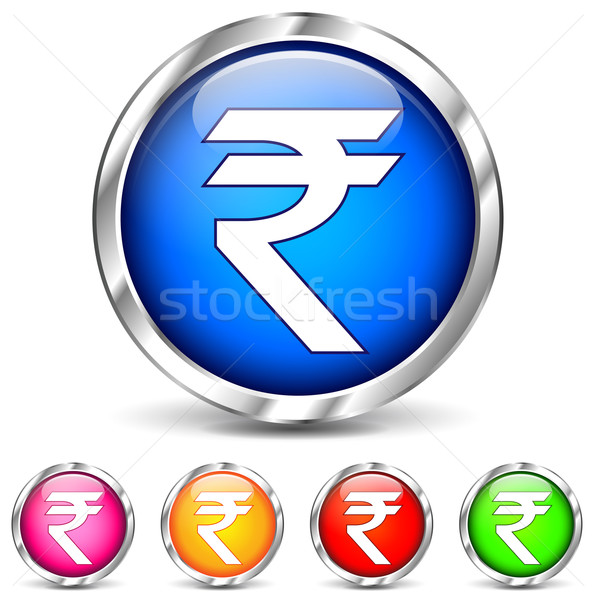 chrome rupee icons Stock photo © nickylarson974