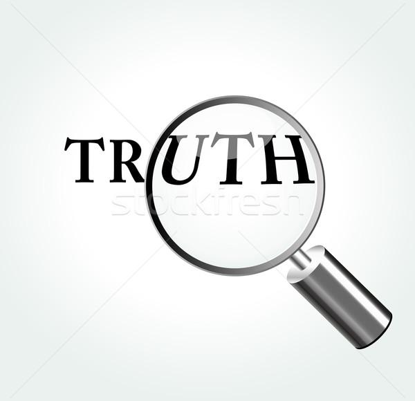Vector truth concept Stock photo © nickylarson974