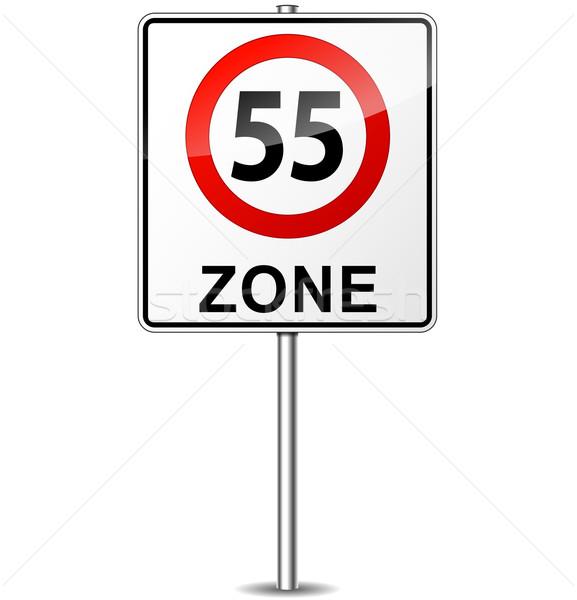 Vetor limite de velocidade assinar cidade rua projeto Foto stock © nickylarson974