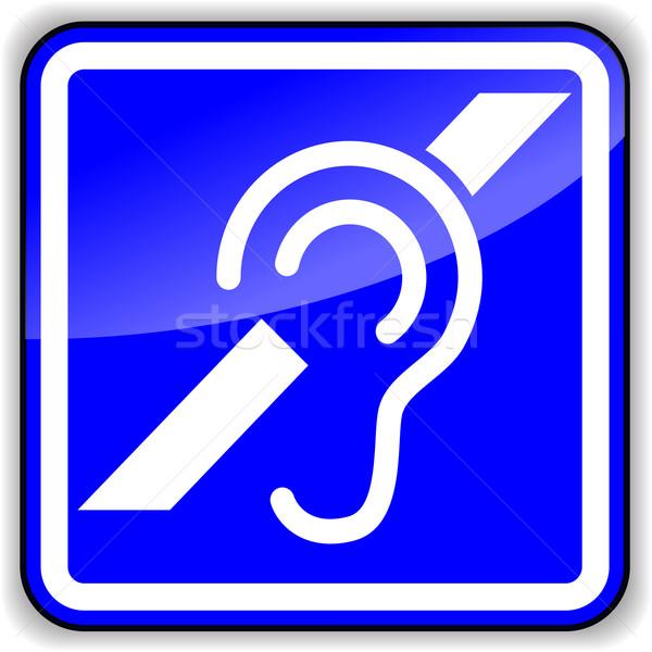 Vector ear sign Stock photo © nickylarson974