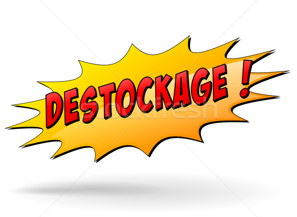 Vector clearance star icon Stock photo © nickylarson974