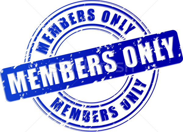 members only blue stamp Stock photo © nickylarson974