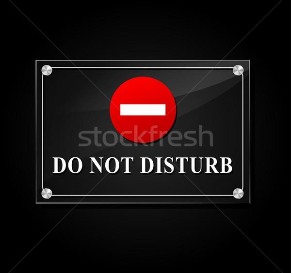 Stock photo: do not disturb transparent sign