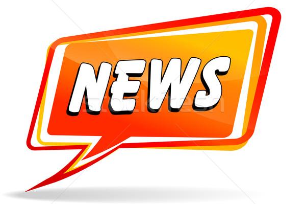 Сток-фото: Новости · дизайна · оранжевый · речи · иллюстрация · говорить