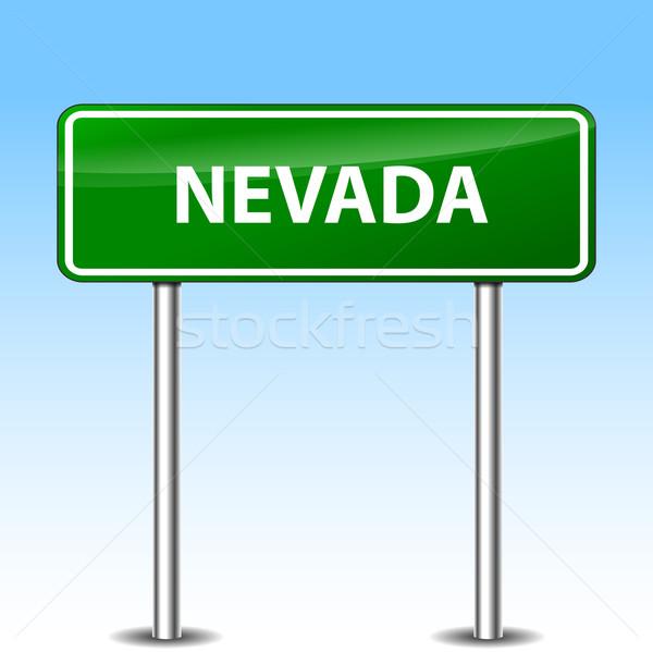 Nevada verde assinar ilustração metal placa sinalizadora Foto stock © nickylarson974