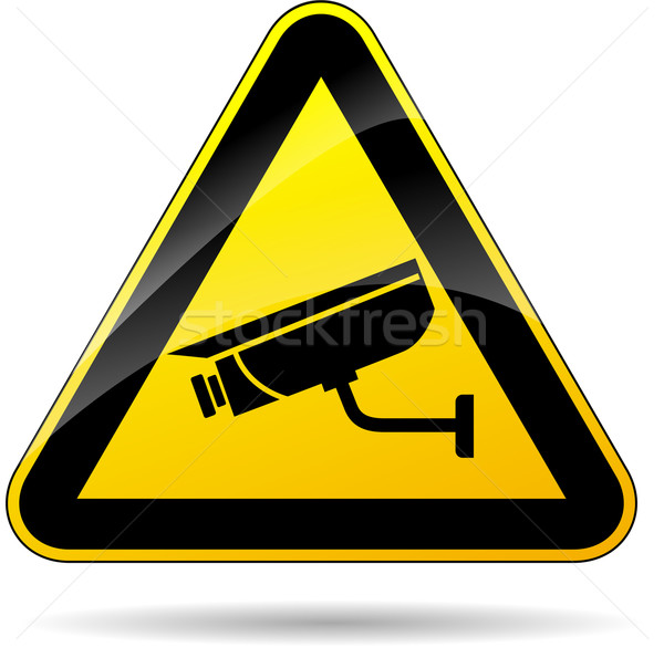 security camera sign Stock photo © nickylarson974