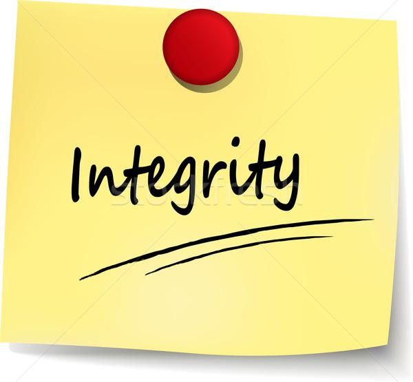 integrity note Stock photo © nickylarson974