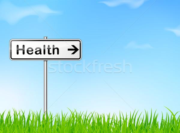 здоровья направлении знак иллюстрация природы бизнеса Сток-фото © nickylarson974