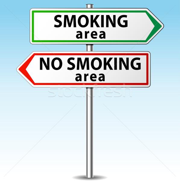 Vektor dohányzás dohányozni tilos irányok absztrakt biztonság Stock fotó © nickylarson974