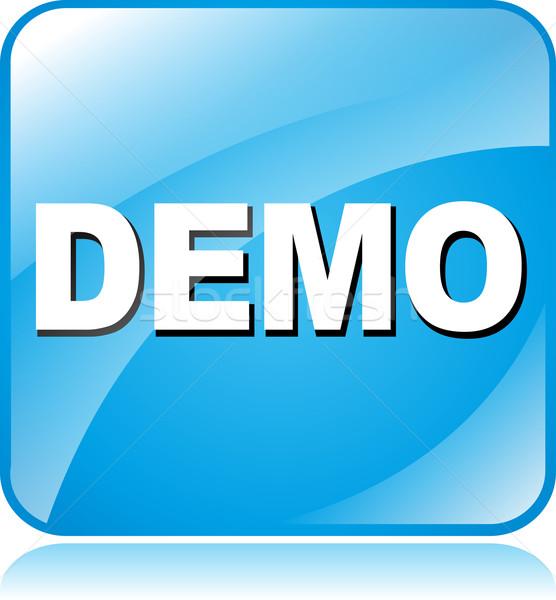 demo icon Stock photo © nickylarson974