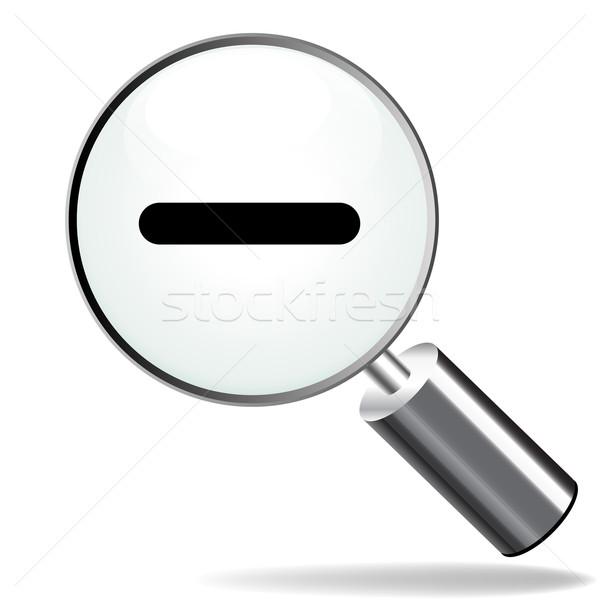 Enfocar atrás icono ilustración aumento blanco Foto stock © nickylarson974