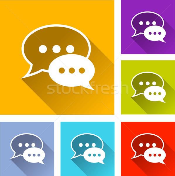 speech bubbles icons Stock photo © nickylarson974