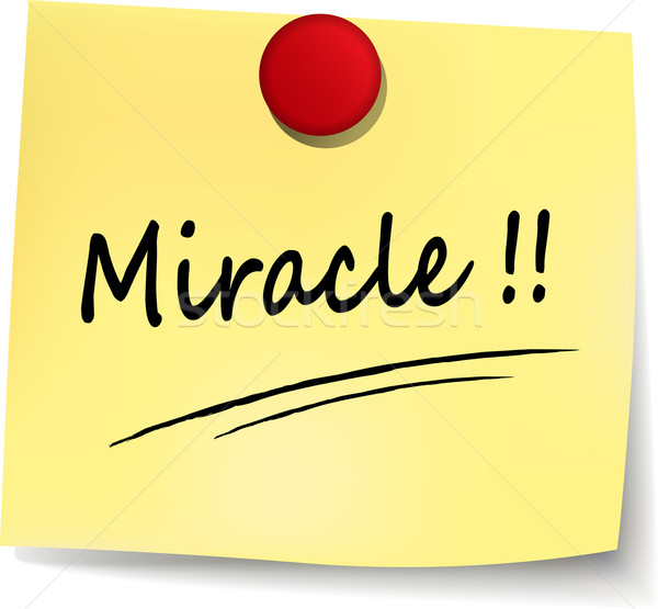 miracle note Stock photo © nickylarson974