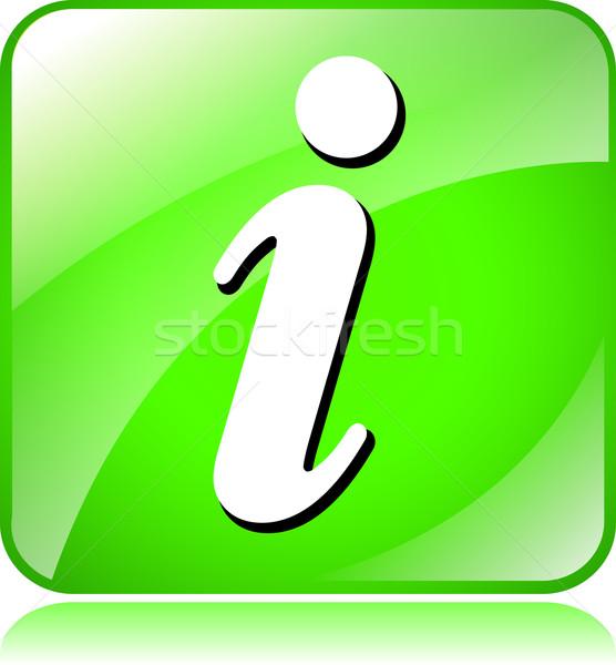 Zöld ikon illusztráció fehér terv felirat Stock fotó © nickylarson974