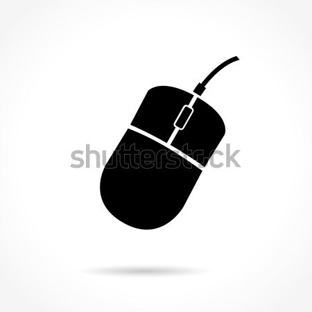 Mouse de computador ícone ilustração branco mouse tecnologia Foto stock © nickylarson974