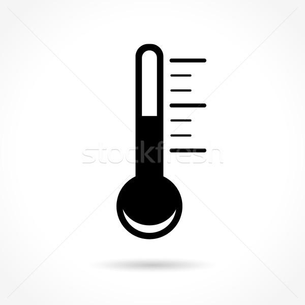 Termômetro ícone branco ilustração médico medicina Foto stock © nickylarson974