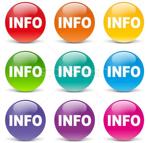 Info colors icons Stock photo © nickylarson974