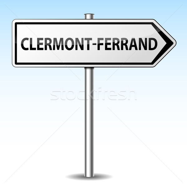 Stock photo: Vector clermont-ferrand directional sign