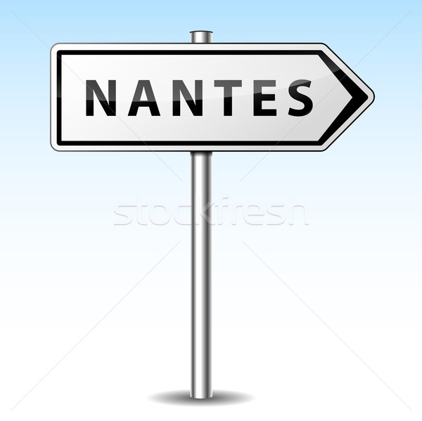 Vector nantes directional sign Stock photo © nickylarson974
