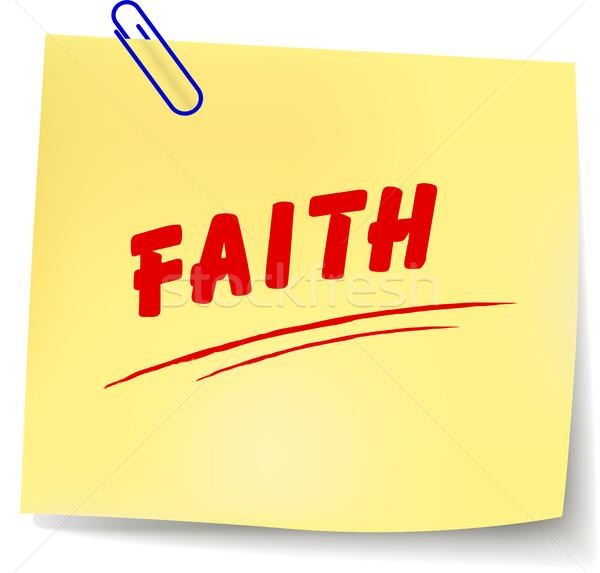 Vector faith message Stock photo © nickylarson974