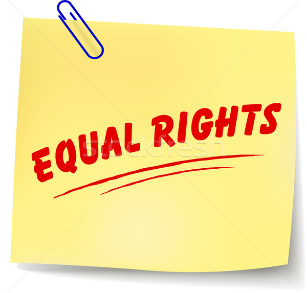 Vector equal rights message Stock photo © nickylarson974