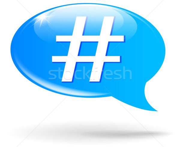Vector hashtag sign illustration Stock photo © nickylarson974