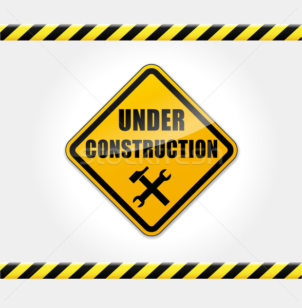 Vecteur construction site page web outils Photo stock © nickylarson974