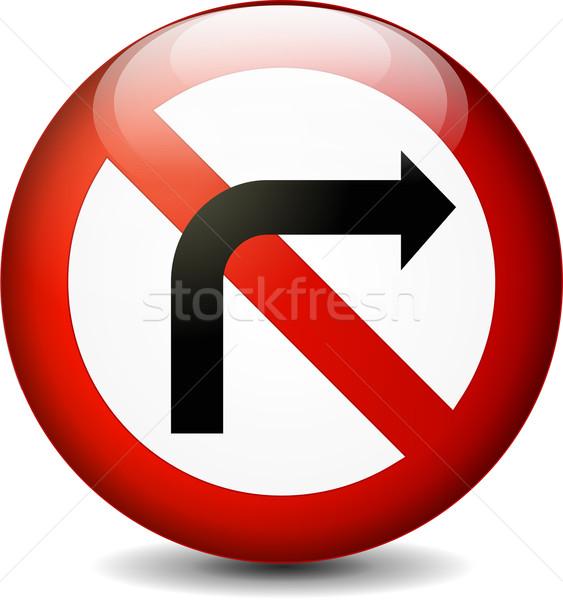 no right turn sign Stock photo © nickylarson974