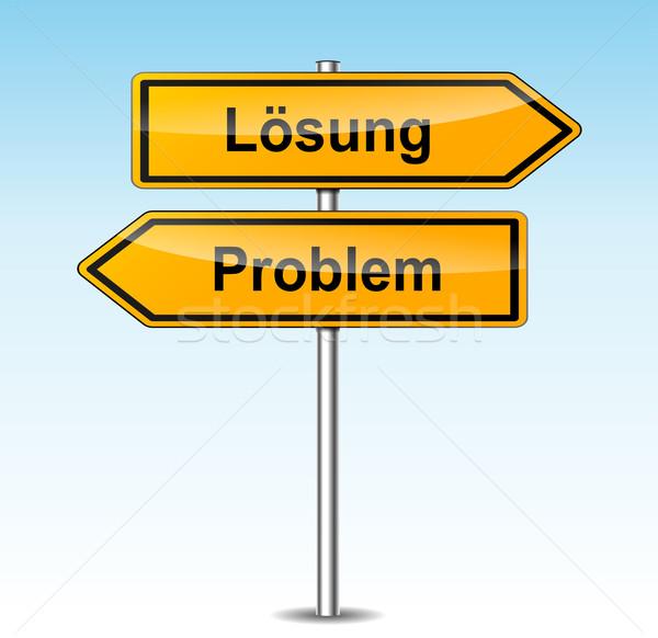 Solução problema sinais tradução ilustração fundo Foto stock © nickylarson974