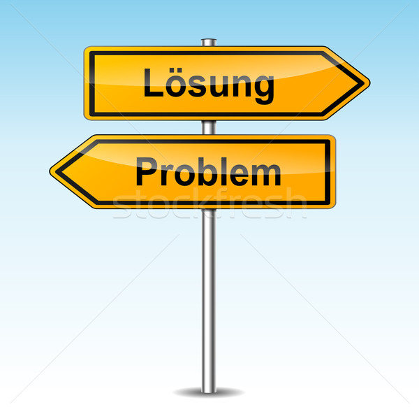 solution and problem signs (german translation) Stock photo © nickylarson974