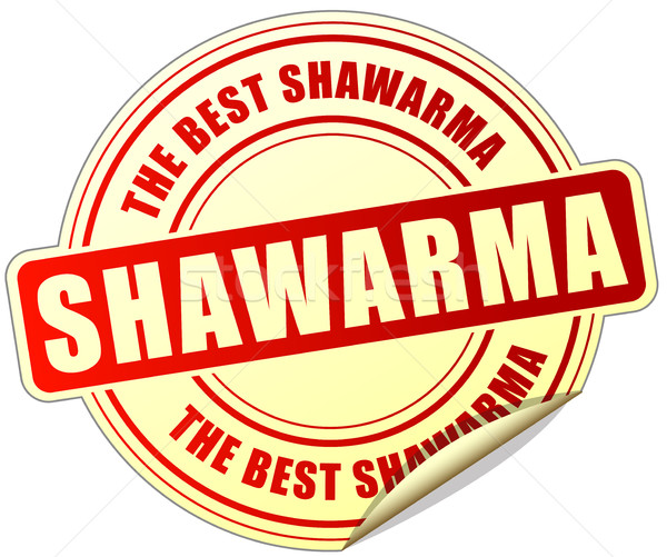 shawarma sticker on white background Stock photo © nickylarson974