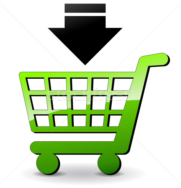 Vector shopping icon Stock photo © nickylarson974