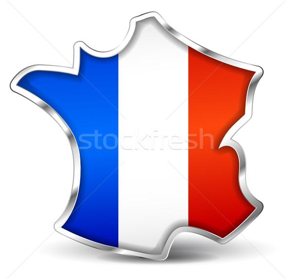 french map icon Stock photo © nickylarson974
