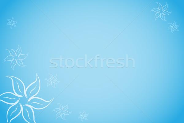 Wektora niebieski kwiatowy tekstury charakter świetle Zdjęcia stock © nickylarson974